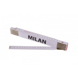 Skládací 2m MILAN (PROFI,bílý,dřevo)
